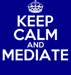 Mediation! Not meditation.
